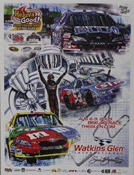 "09 Watkins Glen ""Helluva Good!"" Poster 24"" x 18"" Sam Bass, 2018 Charlotte Coca Cola 600 Program Cover Art Poster, Monster Energy Cup Series, Winston Cup,Poster, Awesome Bill, Chanpionship"