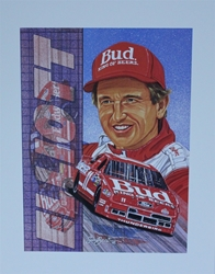 "1992 Bill Elliott Sam Bass Print 19.5"" X 15.5"" 1992 Bill Elliott Sam Bass Print 19.5"" X 15.5"""
