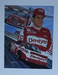 "1993 Joe Nemechek #87 Dentyne Racing  Sam Bass Print 27"" X 21"" 1993 Joe Nemechek #87 Dentyne Racing  Sam Bass Print 27"" X 21"""