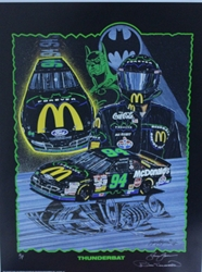 "Autographed Bill Elliott ""Thunderbat"" Artist Proof Sam Bass 29""X 21"" Print w/ COA Sam Bass, Bill Elliott, Thunderbat, Monster Energy Cup Series, Winston Cup, Print, Autographed Bill Elliott ""Thunderbat"" Artist Proof Sam Bass 29""X 21"" Print w/ COA"