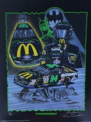 "Autographed Bill Elliott ""Thunderbat"" Numbered Sam Bass 29""X 21"" Print w/ COA Sam Bass, Bill Elliott, Thunderbat, Monster Energy Cup Series, Winston Cup, Print, Autographed Bill Elliott ""Thunderbat"" Numbered Sam Bass 29""X 21"" Print w/ COA"