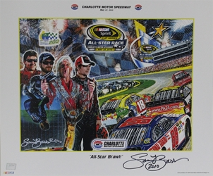 "Autographed By Sam Bass Charlotte Motor Speedway 2010 ""All-Star Brawl!"" Sam Bass Poster 18"" X 21.5"" Sam Bas Poster"