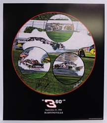 "Autographed Dale Earnhardt ""360"" Original 1994 Sam Bass 25"" X 22"" Print w/ COA Sam Bass, Intimidator, Earnhardt Sr., 1987, Monster Energy Cup Series, Winston Cup,Poster, The Count of Monte Carlo, Chanpion, Ralph"