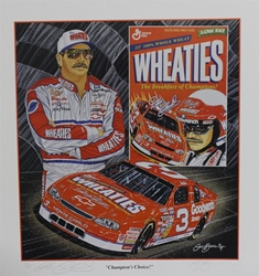 "Autographed Dale Earnhardt ""Champions Choice"" Numbered 1996 Sam Bass 27"" X 24"" Print w/ COA Sam Bass, Intimidator, Earnhardt Sr., 1987, Monster Energy Cup Series, Winston Cup,Poster, The Count of Monte Carlo, Chanpion, Ralph"