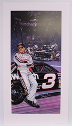 "Autographed Dale Earnhardt ""Fade to Black"" Original 1994 Sam Bass 31"" X 17"" Print w/ COA Sam Bass, Intimidator, Earnhardt Sr., 1987, Monster Energy Cup Series, Winston Cup,Poster, The Count of Monte Carlo, Chanpion, Ralph"