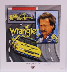 "Autographed Dale Earnhardt ""One Tough Customer"" Original 1998 Sam Bass 24"" X 22"" Print w/ COA Sam Bass, Intimidator, Earnhardt Sr., 1987, Monster Energy Cup Series, Winston Cup,Poster, The Count of Monte Carlo, Chanpion, Ralph"