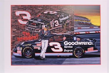 "Autographed Dale Earnhardt ""Ready to Rumble"" Original 1996 Sam Bass 22"" X 30"" Print w/ COA Sam Bass, Intimidator, Earnhardt Sr., 1987, Monster Energy Cup Series, Winston Cup,Poster, The Count of Monte Carlo, Chanpion, Ralph"