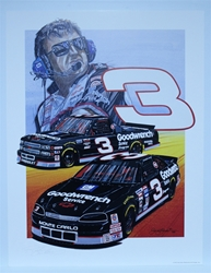 "Autographed Richard Childress ""RCR 1994"" Original Sam Bass 27"" X 21"" Print w/ COA Sam Bass, Richard Childress, RCR, Monster Energy Cup Series, Winston Cup, Poster"