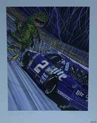 "Autographed Rusty Wallace 1997 "" Monster Slayer "" Original Artist Proof Sam Bass Print 21"" X 27"" w/ COA Autographed Rusty Wallace 1997 "" Monster Slayer "" Original Artist Proof Sam Bass Print 21"" X 27"" w/ COA"