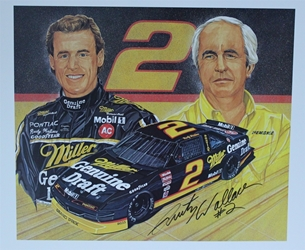 "Autographed Rusty Wallace And Roger Penske "" A Winning Combination "" Sam Bass Print W/ COA 20"" X 24.5"" Autographed Rusty Wallace And Roger Penske "" A Winning Combination "" Sam Bass Print 20"" X 24.5"" W/ COA"