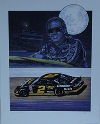 "Autographed Rusty Wallace "" Call Of The Wild "" Original Numbered Sam Bass Print 22"" X 27.5"" w/ COA Autographed Rusty Wallace "" Call Of The Wild "" Original Numbered Sam Bass Print 22"" X 27.5"" w/ COA"