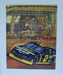 "Autographed Rusty Wallace ""Now You See It "" Original Sam Bass Print 18.5 X 23.5"" w/ COA Autographes Rusty Wallace ""Now You See It "" Original Sam Bass Print 18.5 X 23.5"" w/ COA"