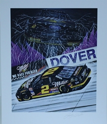 "Autographed Rusty Wallace "" Thunder And Lighting "" Original Sam Bass Print 21"" X 25"" w/ COA Autographed Rusty Wallace "" Thunder And Lighting "" Original Sam Bass Print 21"" X 25"" w/ COA"