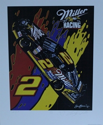 "Autographed Rusty Wallace ""Wet Paint!"" Original Numbered Sam Bass 25"" X 21"" w/ COA Autographed Rusty Wallace ""Wet Paint!"" Original Numbered Sam Bass 25"" X 21"" w/ COA"