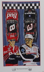 "Autographed by Dale Earnhardt ""The Future is Now"" Original Artist Proof 2000 Sam Bass 33"" X 20"" Print With COA Autographed Dale Earnhardt ""The Future is Now"" Original Artist Proof 2000 Sam Bass 33"" X 20"" Print With COA"