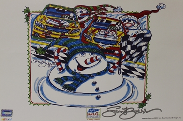 "Autographed by Sam Bass 2010 Snowman Race MINI Poster 11 "" X 17"" W/Nascar Numbered Hologram Autographed by Sam Bass 2010 Snowman Race MINI Poster 11 "" X 17"" W/Nascar Numbered Hologram"