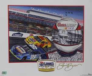 "Autographed by Sam Bass Charlotte Motor Speedway 2009 ""50 Years!"" Poster 21"" x 18"" Sam Bas Poster"