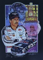 "Autographed by Sam Bass Dale Earnhardt ""Intimidator"" Artist Proof Sam Bass 21"" X 29"" Print Sam Bass, Dale Earnhardt, 1991 Winston Cup Champion, Monster Energy Cup Series, Winston Cup, Print, Autographed Dale Earnhardt ""Intimidator"" Artist Proof Sam Bass 21"" X 29"" Print w/ COA"