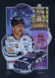"Autographed by Sam Bass Dale Earnhardt ""Intimidator"" Numbered Sam Bass 21"" X 29"" Print Sam Bass, Dale Earnhardt, 1991 Winston Cup Champion, Monster Energy Cup Series, Winston Cup, Print, Autographed Dale Earnhardt ""Intimidator"" Numbered Sam Bass 21"" X 29"" Print w/ COA"