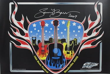 "Autographed by Sam Bass Nashville CMA Music Festival 2009 Poster 17"" x 11"" Autographed by Sam Bass Nashville CMA Music Festival 2009 Print 17"" x 11"""