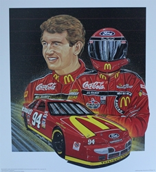 "Bill Elliott 1995 ""Red Hot"" Sam Bass Print 27.5"" X 24.5 Bill Elliott 1995 ""Red Hot"" Sam Bass Print 27.5"" X 24.5"