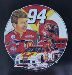 "Bill Elliott 1996  ""Winners Circle"" Numbered Sam Bass 25""X 24"" Print Sam Bass, Bill Elliott, Thunderbat, Monster Energy Cup Series, Winston Cup, Print,  Bill Elliott 1996  ""Winners Circle"" Numbered Sam Bass 25""X 24"" Print"