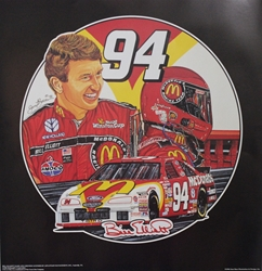 "Bill Elliott 1996  ""Winners Circle"" Sam Bass 25""X 24"" Print Sam Bass, Bill Elliott, Thunderbat, Monster Energy Cup Series, Winston Cup, Print,  Bill Elliott 1996  ""Winners Circle"" Numbered Sam Bass 25""X 24"" Print"