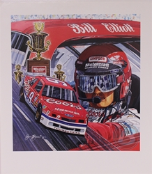 "Bill Elliott ""Bill Elliott 88 Champion"" 19"" X 22"" Original 1989 Sam Bass Poster Sam Bass, Million Dollar Bill, Elliott, 1988, Monster Energy Cup Series, Winston Cup,Poster, Awesome Bill, Chanpionship"