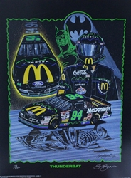 "Bill Elliott ""Thunderbat"" Numbered Sam Bass 29""X 21"" Print Sam Bass, Bill Elliott, Thunderbat, Monster Energy Cup Series, Winston Cup, Print,  Bill Elliott ""Thunderbat"" Numbered Sam Bass 29""X 21"" Print"