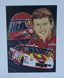 "Bill Elliott "" Top Flight "" Artist Proof Sam Bass Print 19.5"" X 16"" Bill Elliott "" Top Flight "" Artist Proof Sam Bass Print 19.5"" X 16"""