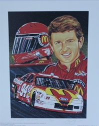 "Bill Elliott "" Top Flight "" Numbered Sam Bass Print 19.5"" X 16"" Bill Elliott "" Top Flight "" Numbered Sam Bass Print 19.5"" X 16"""