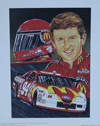 "Bill Elliott "" Top Flight "" Original Sam Bass Print 19.5"" X 16"" Bill Elliott "" Top Flight "" Original Sam Bass Print 19.5"" X 16"""