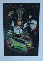 "Bobby Labonte & Joe Gibbs ""Touchdown"" Sam Bass 31"" X 36"" Print Dual Autographed Bobby Labonte & Joe Gibbs ""Touchdown"" Numbered Sam Bass 31"" X 36"" Print"