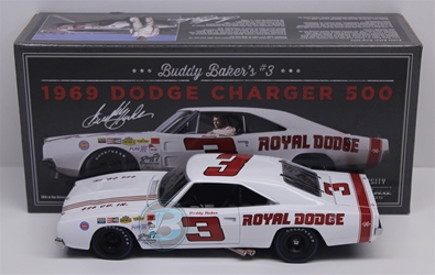 Buddy Baker #3 Royal Dodge 1969 Dodge Charger 500 1:24 University of Racing Nascar Diecast Buddy Baker nascar diecast, diecast collectibles, nascar collectibles, nascar apparel, diecast cars, die-cast, racing collectibles, nascar die cast, lionel nascar, lionel diecast, action diecast, university of racing diecast, nhra diecast, nhra die cast, racing collectibles, historical diecast, nascar hat, nascar jacket, nascar shirt,historical racing die cast