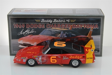 Buddy Baker #6 Bob Drake 1969 Dodge Daytona 1:24 University of Racing Nascar Diecast Buddy Baker nascar diecast, diecast collectibles, nascar collectibles, nascar apparel, diecast cars, die-cast, racing collectibles, nascar die cast, lionel nascar, lionel diecast, action diecast, university of racing diecast, nhra diecast, nhra die cast, racing collectibles, historical diecast, nascar hat, nascar jacket, nascar shirt,historical racing die cast