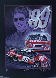 "Carl Edwards 2006 ""Knights of Thunder"" Numbered Sam Bass Print 24"" X 18"" Carl Edwards 2006 ""Knights of Thunder"" Numbered Sam Bass Print 24"" X 18"""
