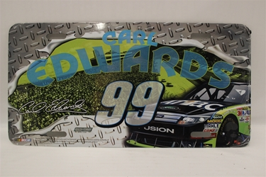 Carl Edwards #99 Aflac Diamond Plate Aflac License Plate Carl Edwards ,Diamond Plate Aflac ,License Plate,R and R Imports,R&R