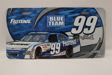Carl Edwards #99 Fastenal Blue Car License Plate Carl Edwards ,Blue Car ,License Plate,R and R Imports,R&R