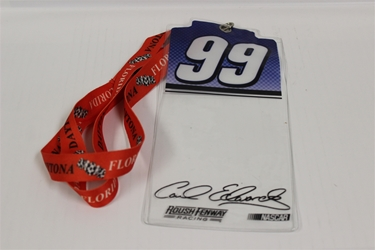 Carl Edwards #99 Purple Top  Credential Holder and Daytona Lanyard Carl Edwards nascar diecast, diecast collectibles, nascar collectibles, nascar apparel, diecast cars, die-cast, racing collectibles, nascar die cast, lionel nascar, lionel diecast, action diecast, university of racing diecast, nhra diecast, nhra die cast, racing collectibles, historical diecast, nascar hat, nascar jacket, nascar shirt, R and R