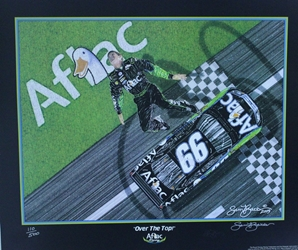 "Carl Edwards Aflac "" Over The Top"" Numbered 2006 Sam Bass Print 21"" X 25"" Carl Edwards Aflec "" Over The Top"" Numbered 2006 Sam Bass Print 21"" X 25"""