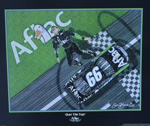 "Carl Edwards Aflac "" Over The Top"" Original 2006 Sam Bass Print 21"" X 25"" Carl Edwards Aflec "" Over The Top"" Original 2006 Sam Bass Print 21"" X 25"""