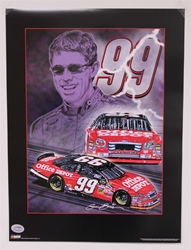 "Carl Edwards ""Knights of Thunder"" 18"" X 24"" Original 2006 Sam Bass Poster Sam Bass, Carl Edwards, 2006, Monster Energy Cup Series, Winston Cup,Poster"