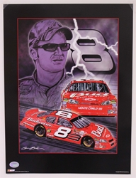 "Case of 25 - Dale Earnhardt Jr ""Knights of Thunder"" 18"" X 24"" Original 2006 Sam Bass Poster Sam Bass, Dale Earnhardt Jr, 2006, Monster Energy Cup Series, Winston Cup,Poster"