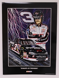 "Case of 25 - Dale Earnhardt ""Knights of Thunder"" 18"" X 24"" Original 1997 Sam Bass Poster Sam Bass, Intimidator, Earnhardt Sr., 2001, Monster Energy Cup Series, Winston Cup,Poster, The Count of Monte Carlo, Chanpion, Ralph, Bill Elliott, Rusty Wallace, Dale Earnhardt Jr."
