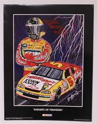 "Case of 25 - Terry Labonte ""Knights of Thunder"" 17"" X 23"" Original 1997 Sam Bass Poster Sam Bass, Terry Labonte, 1997, Monster Energy Cup Series, Winston Cup,Poster"