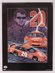 "Case of 25 - Tony Stewart ""Knights of Thunder"" 18"" X 24"" Original 2006 Sam Bass Poster Sam Bass, Tony Stewart, 2006, Monster Energy Cup Series, Winston Cup,Poster"