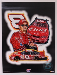 "Case of 48 - Dale Earnhardt Jr. ""DEJ Gallery Collection"" 18"" X 24"" Original 2001 Sam Bass Poster Sam Bass, Pied Piper of Daytona Earnhardt Jr., 2001, Monster Energy Cup Series, Winston Cup,Poster, Dale Jr., Chanpion"