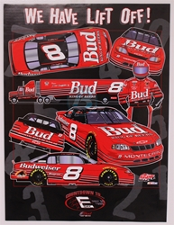 "Case of 48 - Dale Earnhardt Jr. ""We Have Lift Off!"" 18"" x 24"" Sam Bass Poster Sam Bass, Dale Jr., Earnhardt, Final Ride, Monster Energy Cup Series, Poster,"
