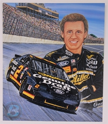 "Case of 48 - Rusty Wallace ""Winning Combination"" 17"" X 20"" Original 1994 Sam Bass Poster Sam Bass, Rusty, 2001, Monster Energy Cup Series, Winston Cup,Poster, Wallace, Chanpion"
