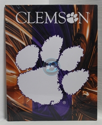 "Clemson Canvas 11"" x 14"" Wall Hanging collectible canvas, ncaa licensed, officially licensed, collegiate collectible, university of"